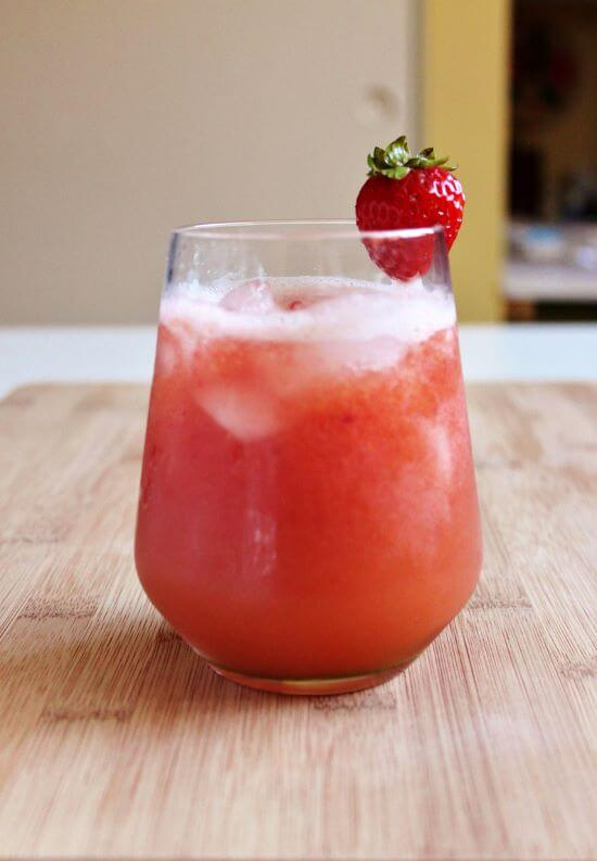 Strawberry melon juice