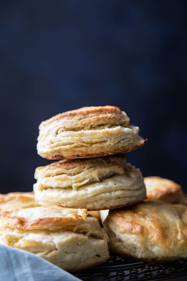 Buttermilk biscuits and honey apple butter on wildwildwhisk.com