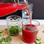Watermelon cucumber mint juice on wildwildwhisk.com