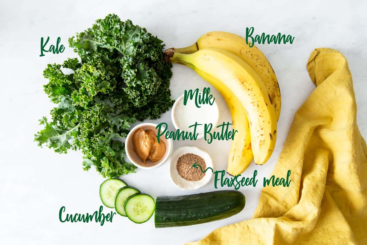 Banana Peanut Butter Green Smoothies | wildwildwhisk.com
