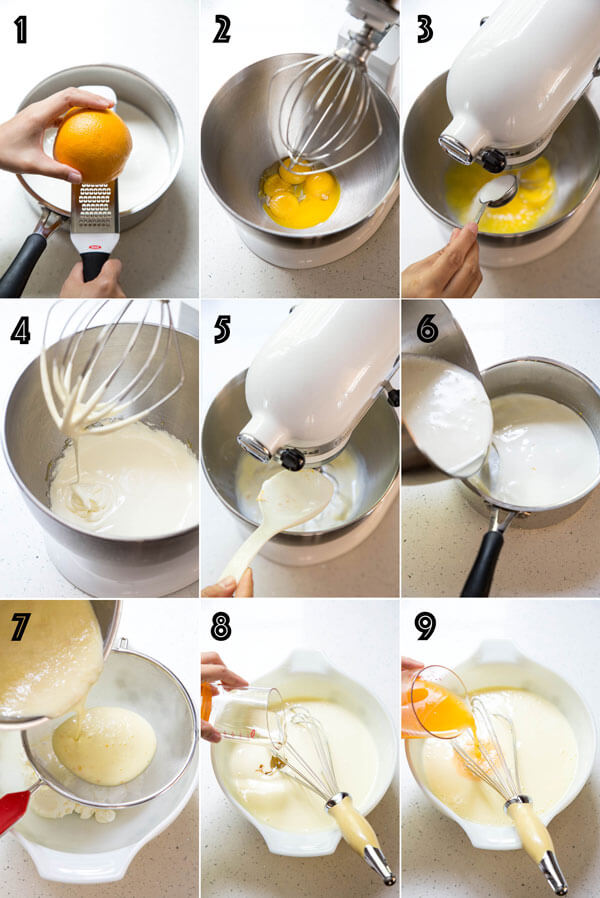 Making orange ice cream base