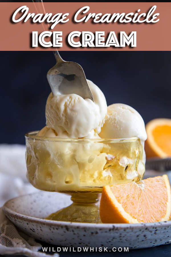 This delightful Orange Ice Cream gets its flavor from both the zest and juice of oranges, while mascarpone cheese gives it yet another layer of flavor that will surely blow your mind! #wildwildwhisk #orangeicecream