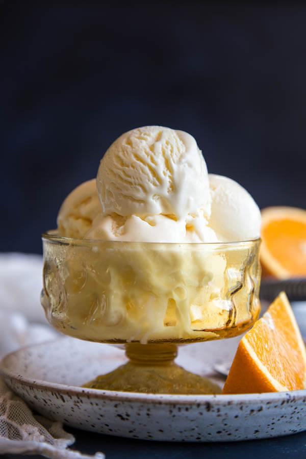 Orange Mascarpone Ice Cream | wildwildwhisk.com