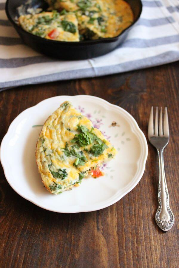 Vegetable Frittata | wildwildwhisk.com