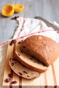 Orange Cranberry Whole Wheat Bread | wildwildwhisk.com