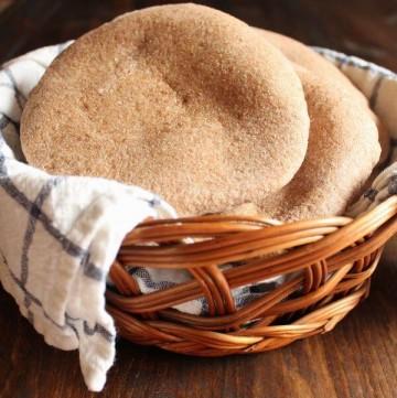Whole Wheat Pita Bread   wildwildwhisk.com