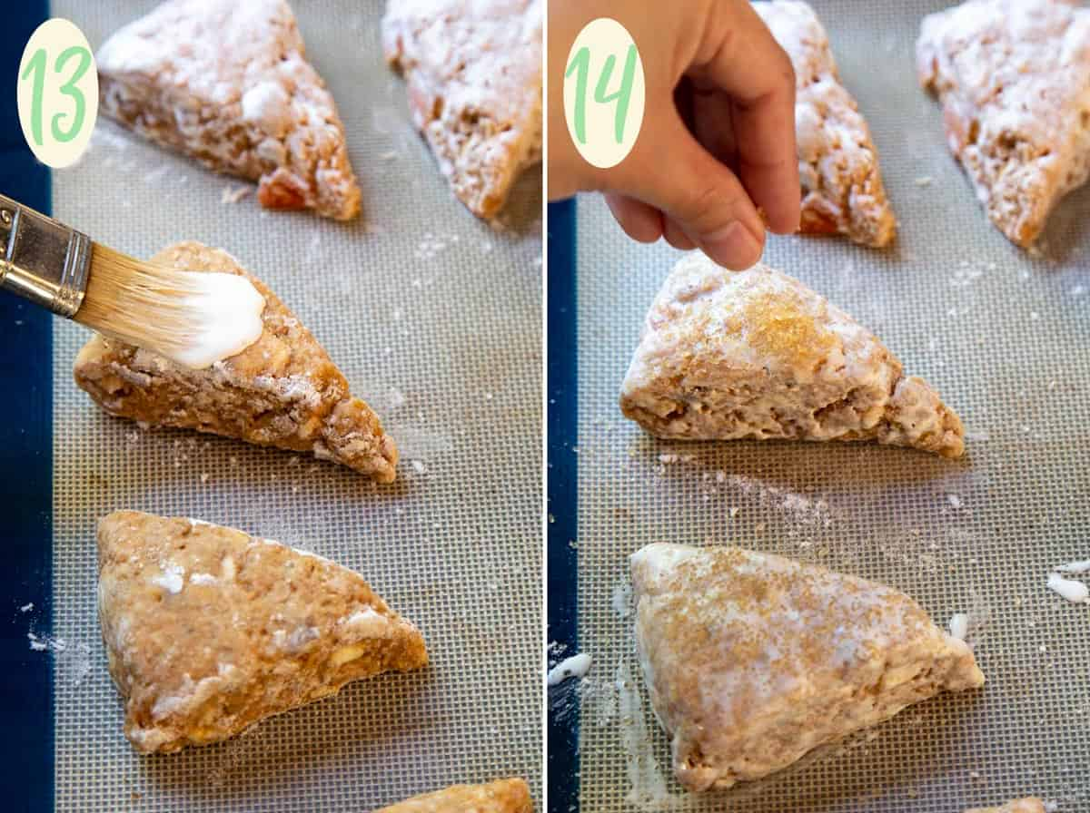 Cardamom Persimmon Cream Scones   wildwildwhisk.com