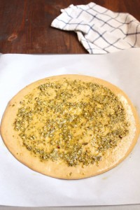 Whole Wheat Pesto Pizza | wildwildwhisk.com