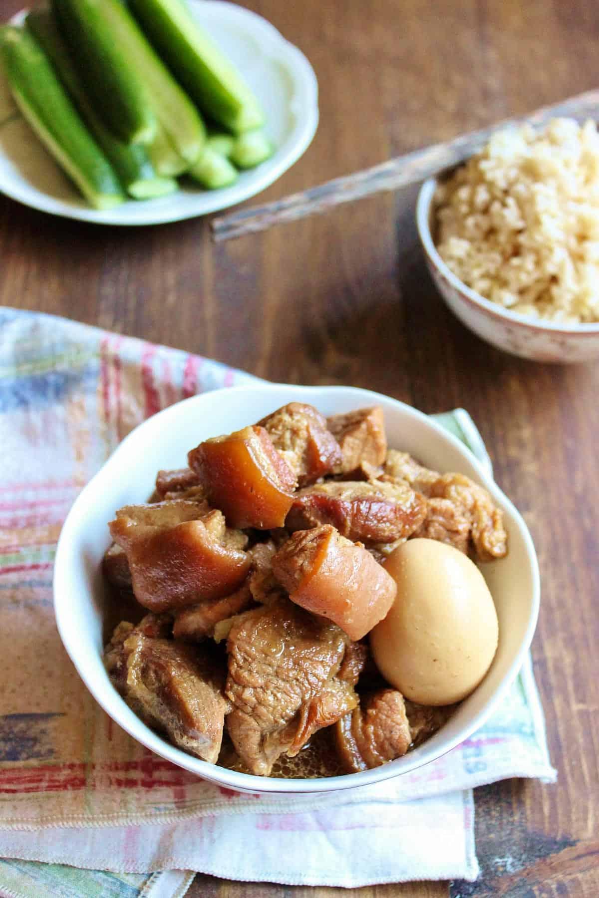 Vietnamese Braised Pork with Egg   wildwildwhisk.com