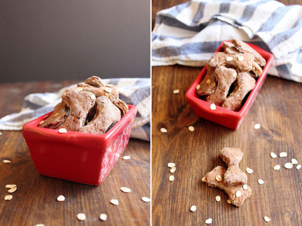 banana peanut butter with rolled oats dog treats | wildwildwhisk.com