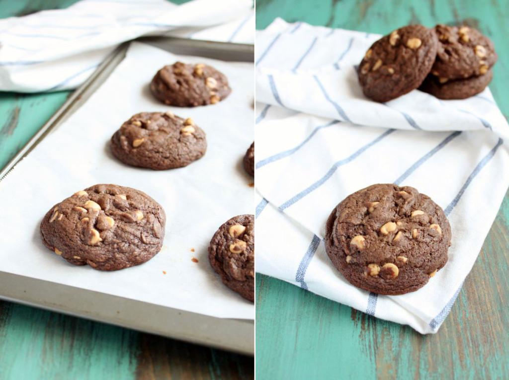 Chocolate Peanut Butter Chip Cookies | wildwildwhisk.com