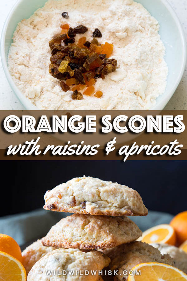 Orange scones pin image