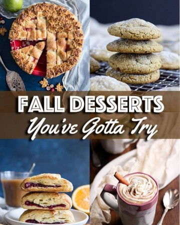 Fall desserts collage