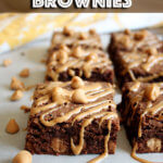 Double Peanut Butter Brownies
