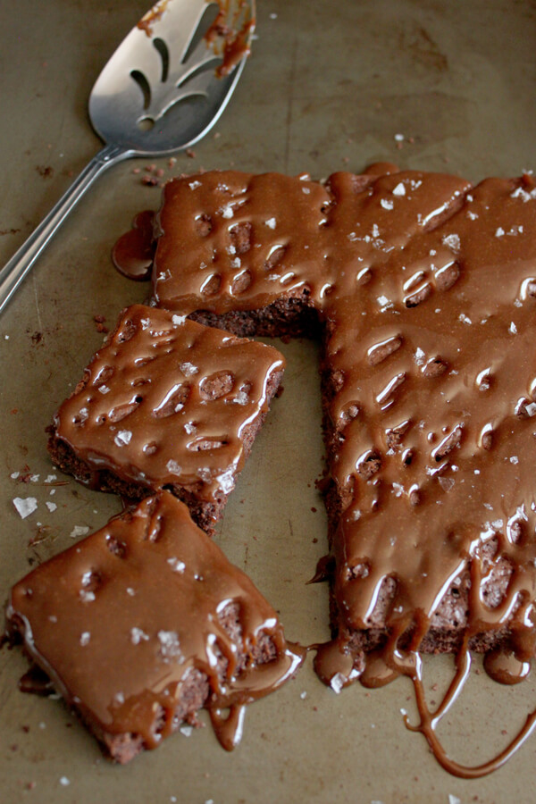 These Salted Caramel Brownies are sticky and messy to eat but they are sweet and salty, chocolaty and caramelly, and most definitely finger licking good!   wildwildwhisk.com