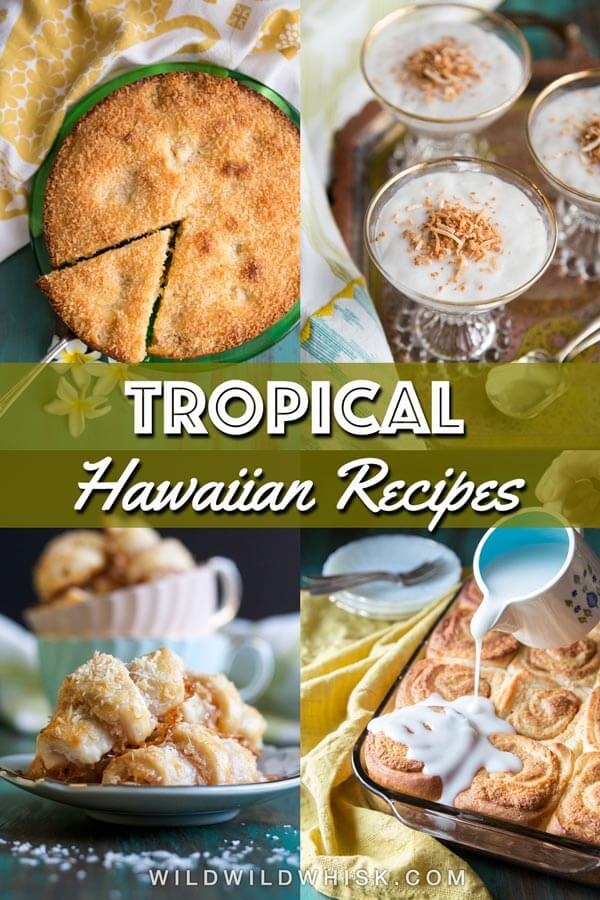 A collage of tropical recipes