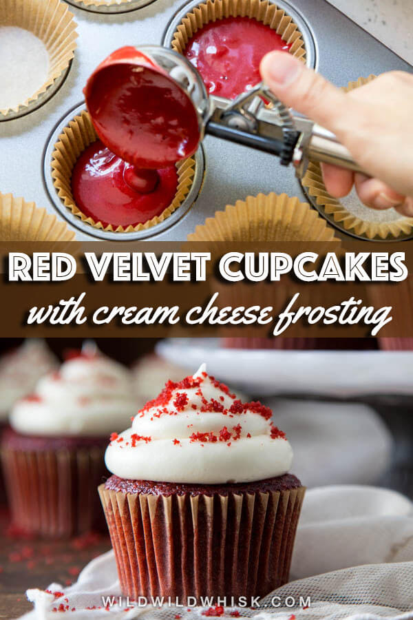 Red velvet cupcakes Pin image