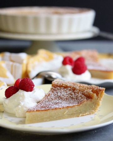 This Chess Pie Tart is a less sweet version of the traditional chess pie. So if you have been putting off making chess pie due to the extreme sweetness, here's your chance to enjoy one that's much less sugary. | wildwildwhisk.com