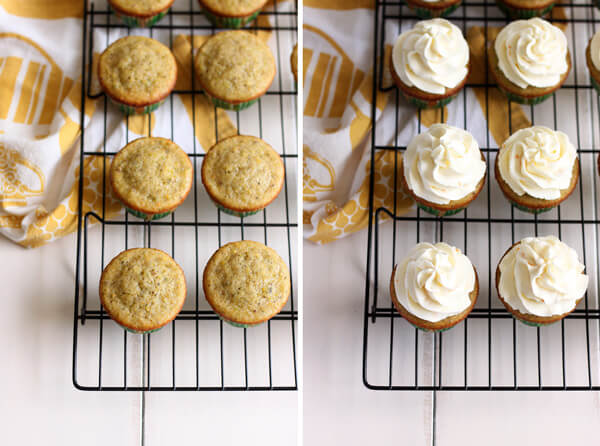Pistachio Cupcakes with Orange Mascarpone Frosting | wildwildwhisk.com