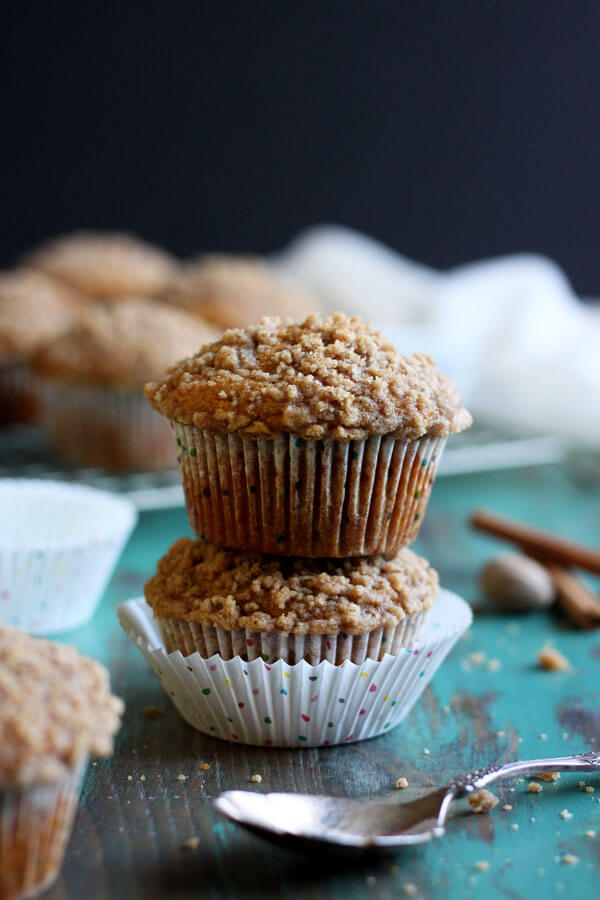 Pumpkin Muffins with Pumpkin Pie Spice Streusel