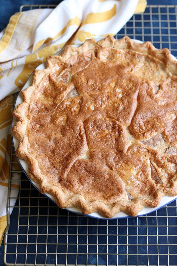 Golden brown S'mores Bomb Pie
