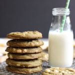 This recipe for White Chocolate Chip Matcha Cookies is based on the household favorite Chocolate Chip Cookies, but with an Asian twist. | wildwildwhisk.com