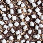 Dark Chocolate S'mores Crack is an easy Graham cracker toffee recipe that you can whip up in just minutes. Enjoy this version of S'mores without having to light a camp fire! #SundaySupper   wildwildwhisk.com