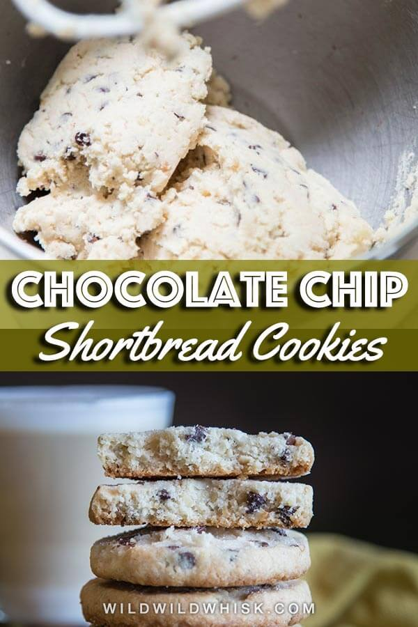 Chocolate chip shortbread pin image