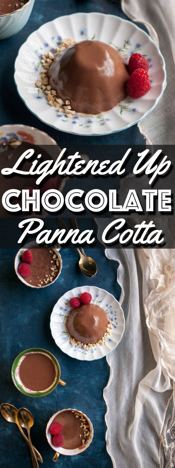 Lightened Up Chocolate Panna Cotta is a delicious dairy free version of a decadent dessert. This version of Panna Cotta will add a little sweetness to your day while still keep you on track with all of your New Year resolutions. | wildwildwhisk.com
