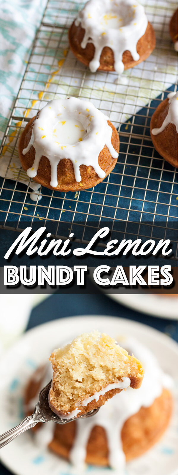 These Mini Lemon Bundt Cakes may be mini, but they pack a big punch of lemon flavor, from the cake batter all the way to the icing. They're moist, sweet, tangy and refreshing, everything you will love. | wildwildwhisk.com #lemonbundtcakes #lemonicing