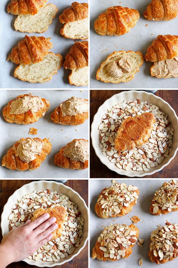 Almond Croissant - process shots
