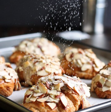 Almond Croissant with a dusting of powder sugar