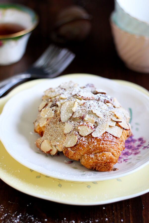 Almond Croissant on a plate