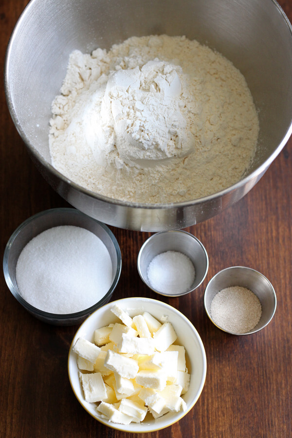 How to make croissant - croissant dough dry ingredients