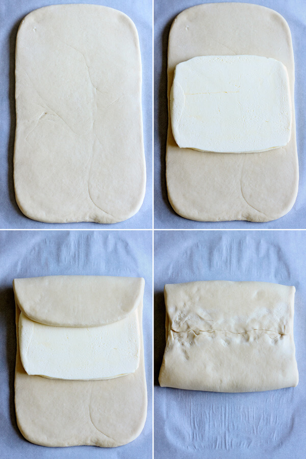 How to make croissant - Encasing dough with butter for lamination