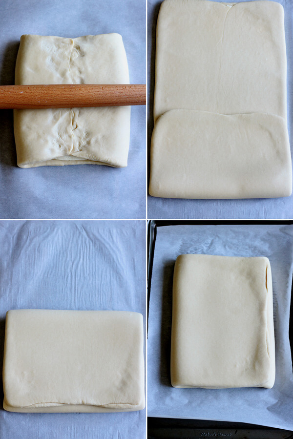 How to make croissant - Dough lamination turn 1