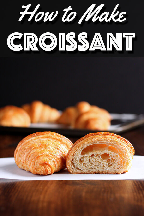 Making croissant is indeed hard work. But I can guarantee there is no better feeling than the one you will have while biting into a warm flaky buttery homemade croissant fresh from your own oven. Let's learn how to make croissant! | wildwildwhisk.com #croissant