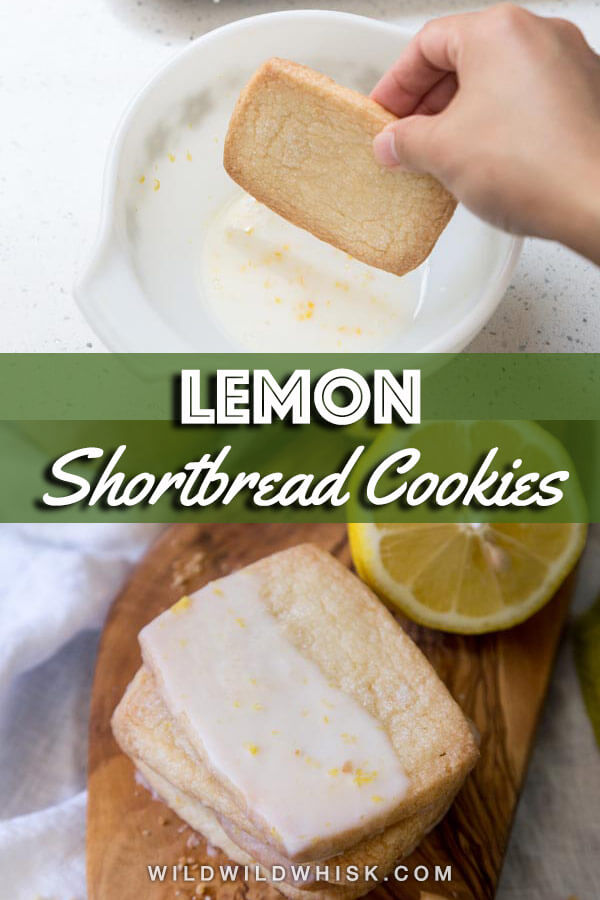 Lemon Shortbread Cookies are buttery and refreshingly delicious. They have all the wonderful characteristics of those Classic Shortbread Cookies plus the wonderful citrus flavor that we all love. | wildwildwhisk.com #shortbread #cookies #lemon