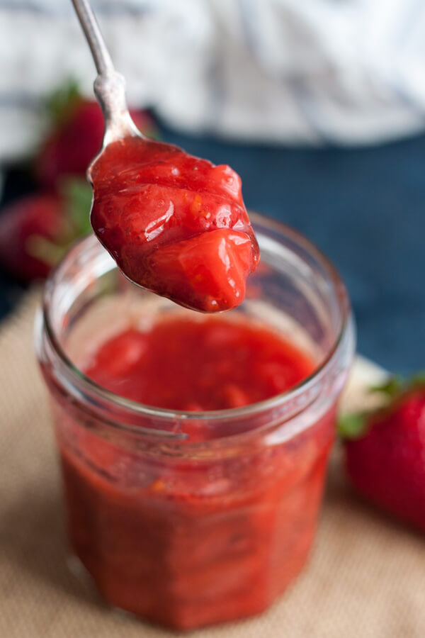 Close up of Strawberry Compote