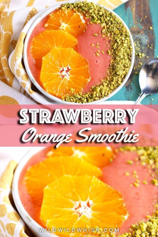 Strawberry Orange Smoothie pin image