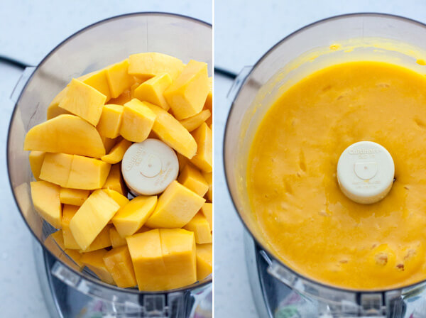 Mango puree for No Churn Mango Ice Cream