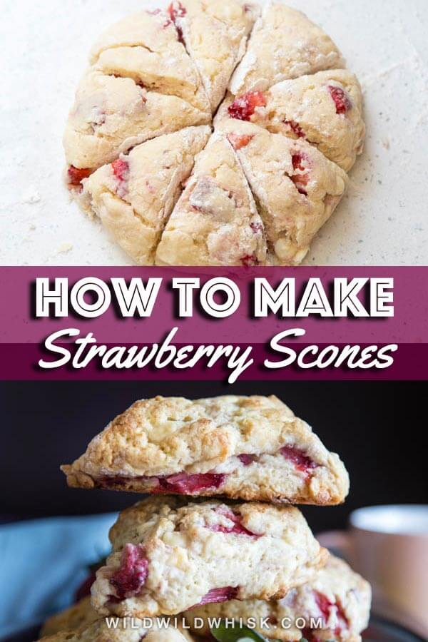 Strawberry scones pin image