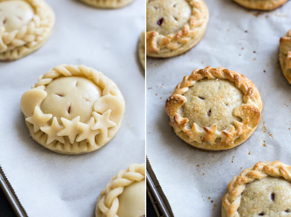 Blueberry Lemon Hand Pies - unbaked/baked
