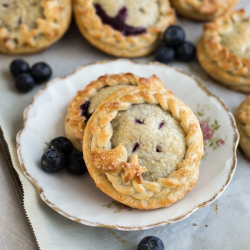Blueberry Lemon Hand Pies on a plate