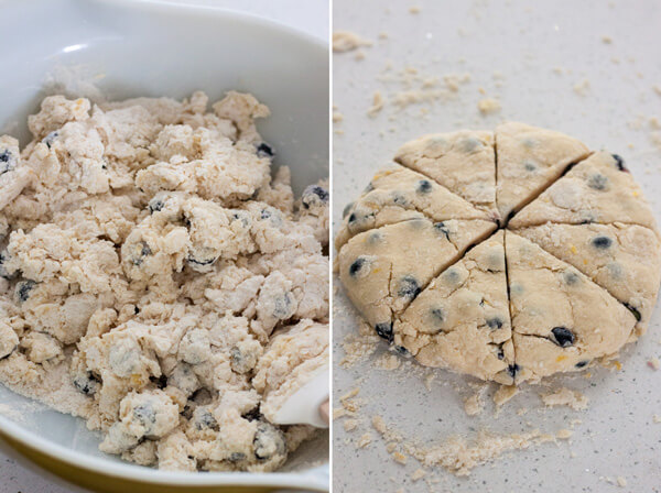 Lemon Blueberry Cream Scones dough texture