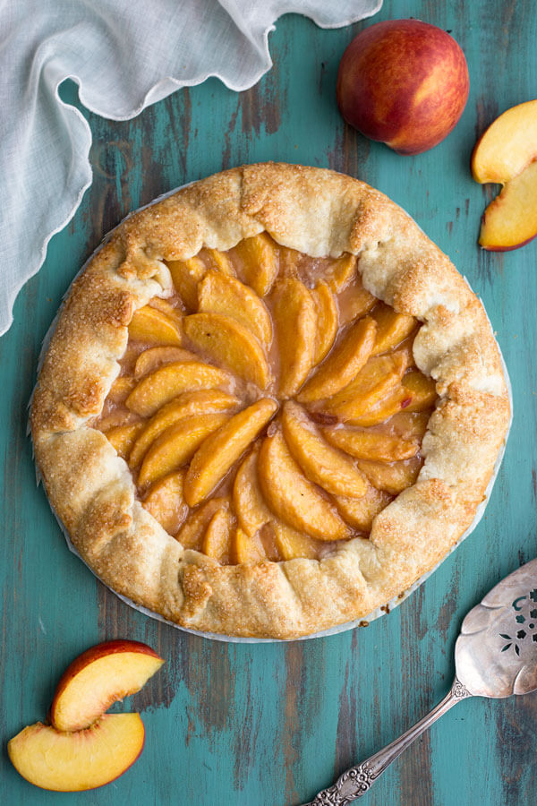 Peach Crostata or Peach Galette