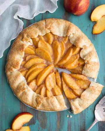 Peach Crostata or Peach Galette