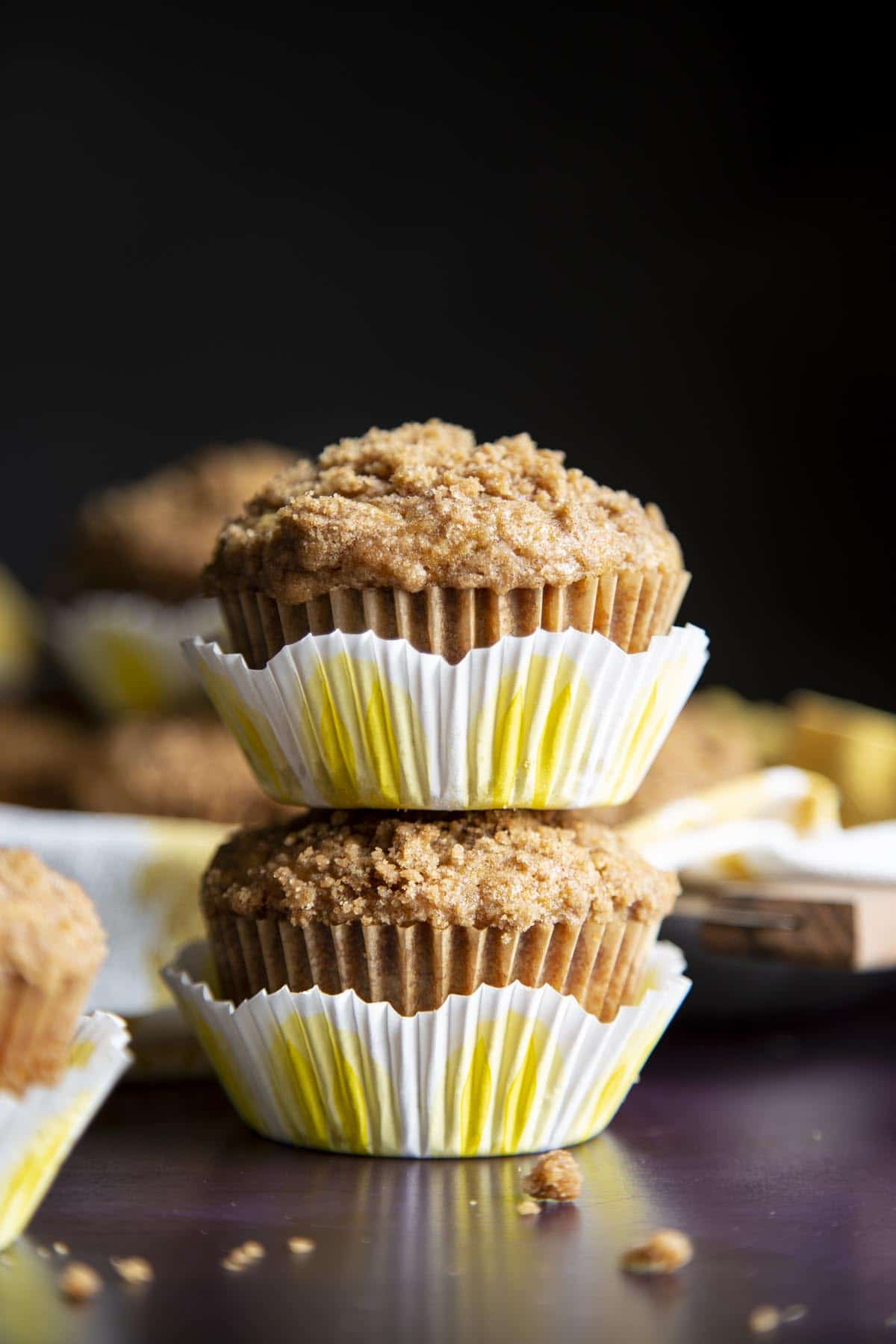 Banana Nut Muffins with Granola Streusel