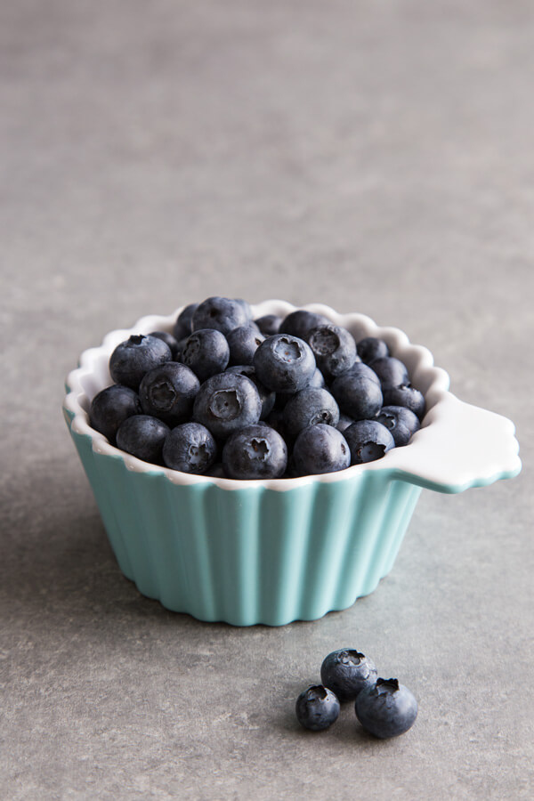 Fresh blueberries for Blueberry Popsicles