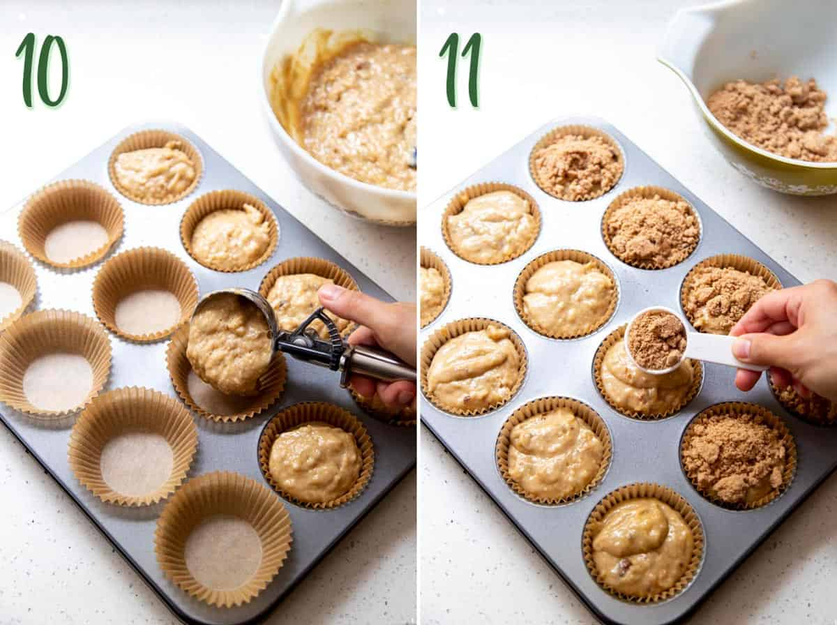 How to make Banana Nut Muffins with Granola Streusel